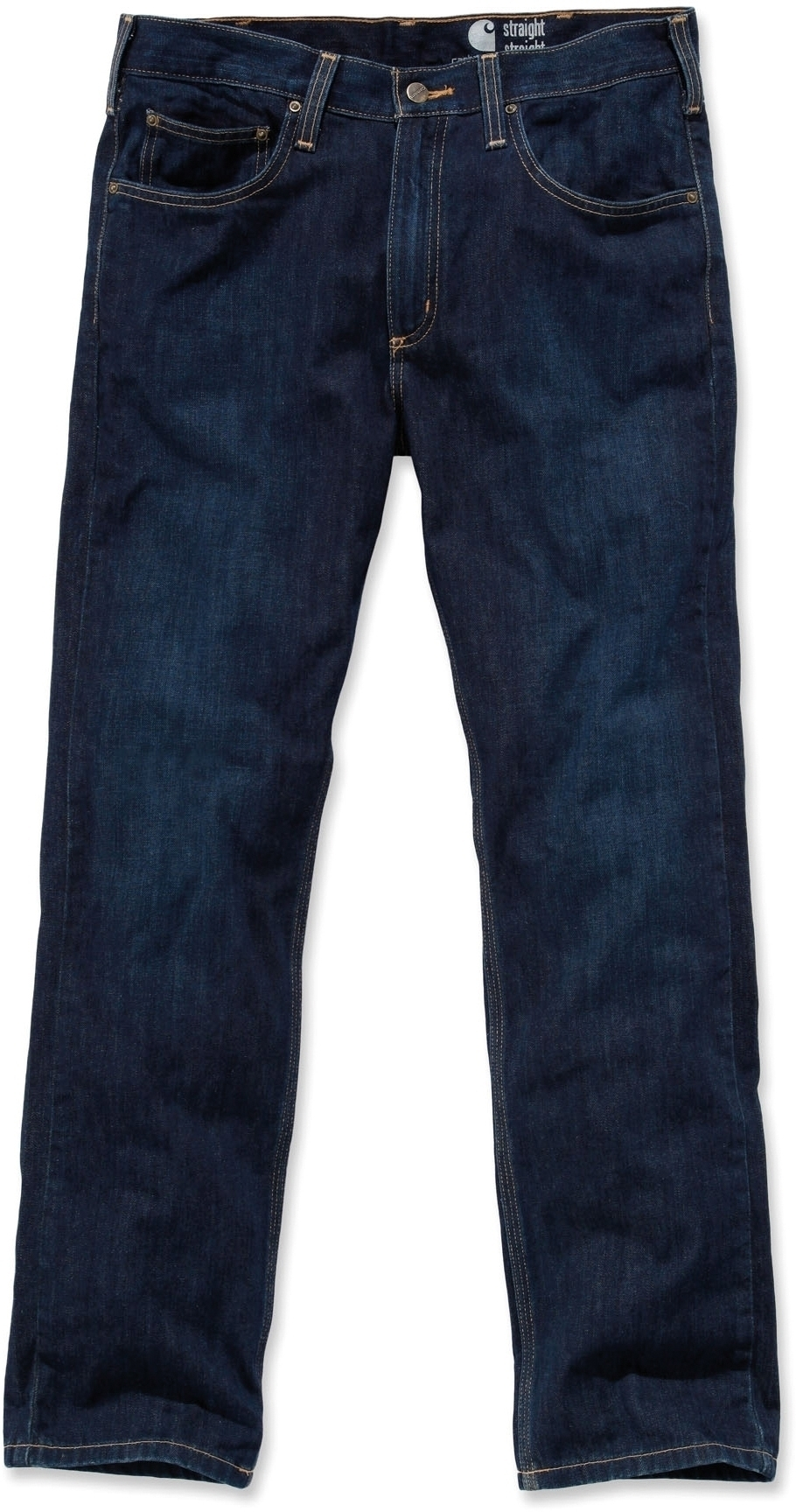JEAN COUPE DROITE Weathered Indigo Rouge